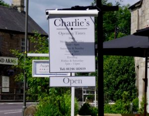 Charlies Swing Sign